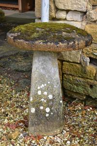 An 18th century stone staddlestone