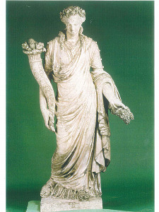 A statue depicting the Goddess Ceres