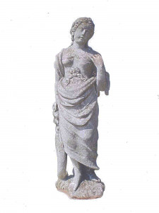 An English carved stone statue of Ceres