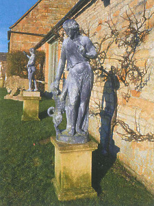 Lead garden figure of Fidelity