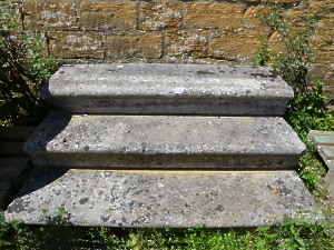 A flight of Portland stone steps