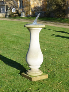 The Solstice Sundial Pedestal with Thomas Wright Dial Plate