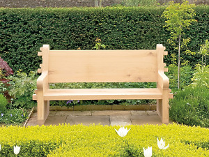 The Quercus Robur High Back Garden Seat