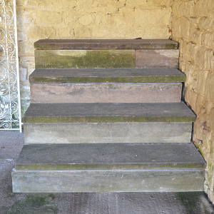 A set of York stone steps