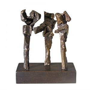Three Standing Figures by Clive Sheppard (1930-1973)