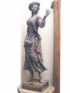18th century lead shepherdess from the workshops of John Cheere