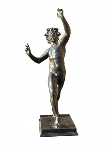 'The Dancing Faun' Signed in the cast 'Fondeira Sommer Napoli'