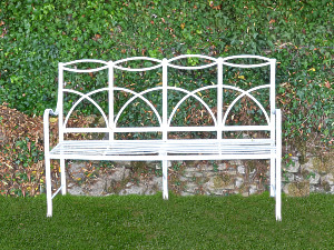 A regency wrought iron bench