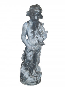 An early 20th Century lead figure representing Autumn attributed to J P White & Co