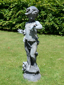 An early 20th Century lead figure of the 'Butterfly Girl'