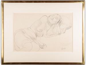 'Sunita (Amira Peerbhoy) Asleep' Sir Jacob Epstein 1880 - 1959