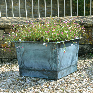 The Square Copper Garden Planter - Small