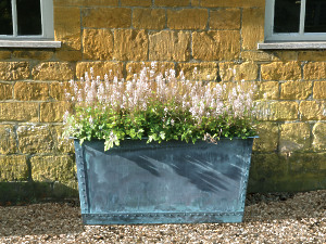 The Rectangular Copper Garden Planter - Small - Wide