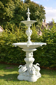 A French 19th century, circa 1860, cast iron fountain