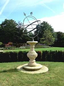 The Baluster Sundial Pedestal with Holborn Armillary Sphere with Griffin
