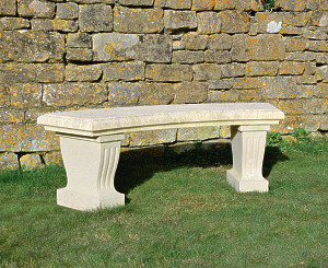 The Classic Curved Stone Garden Bench
