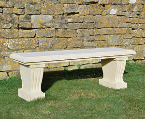The Classic Straight Stone Garden Bench