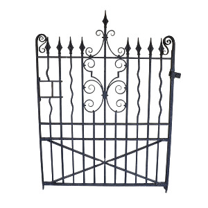 A well made Edwardrian wrought iron garden gate