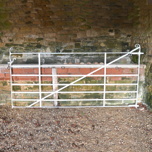 A large 19th century wrought iron field gate
