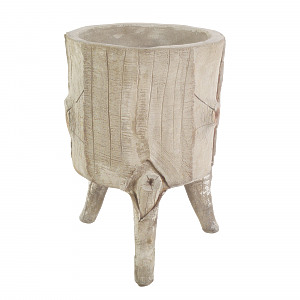 An early 20th century composition stone faux bois planter
