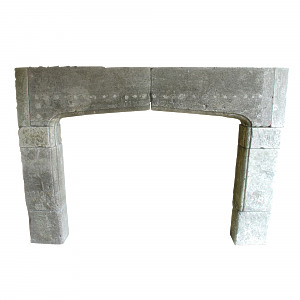 A 19th century limestone fire surround of large proportions