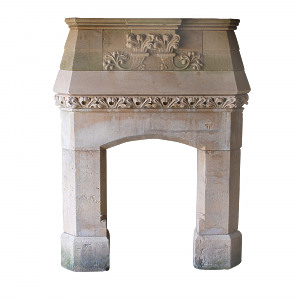 A mid-19th century, circa 1860, Bath stone fire surround