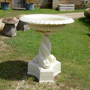 A 19th century cast iron fountain