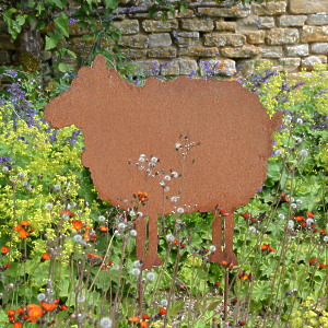 'Dolly' The Rusty Garden Sheep