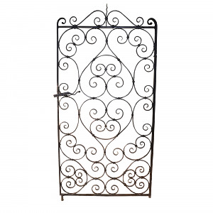 A 19th century wrought iron single garden gate