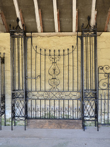 A 19th Century wrought iron garden gate