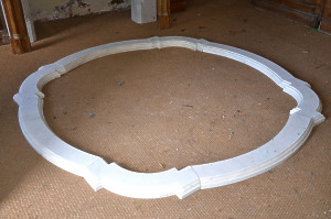 A late 19th century marble pool surround