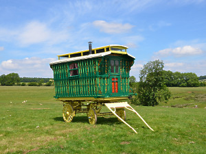 A fully restored Burton Wagon