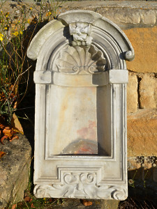 A neatly proportioned mid-18th century marble niche