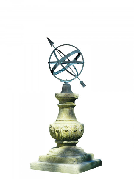 The William IV Sundial Pedestal with Zenith Armillary Sphere