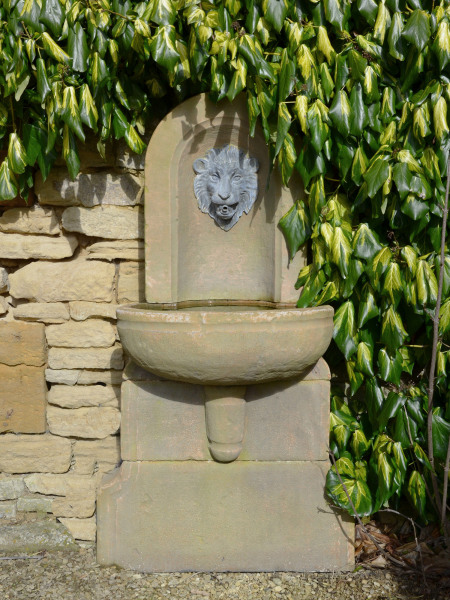 The Wall Fountain with Lion Mask