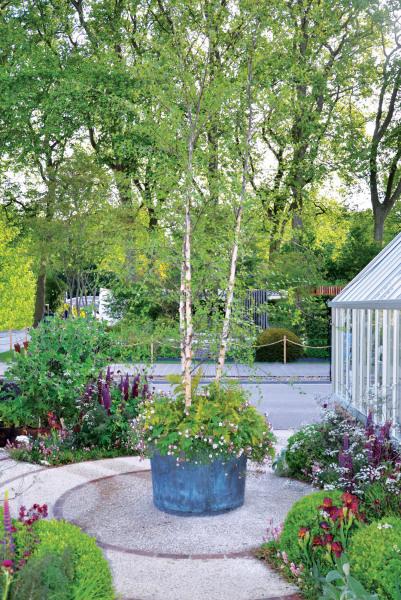 The Circular Copper Garden Planter - Very Large