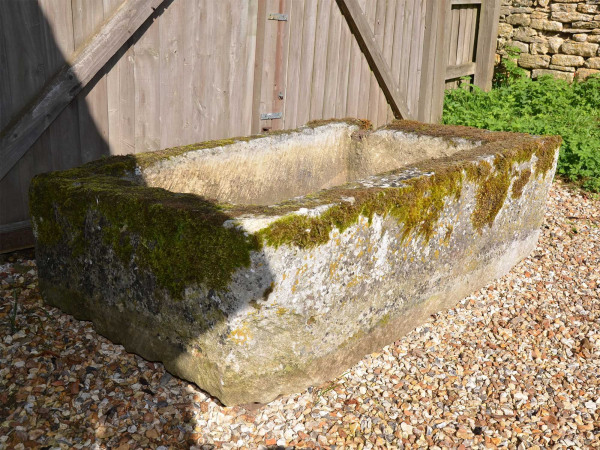 A large 18th century stone trough with good weathering and patination