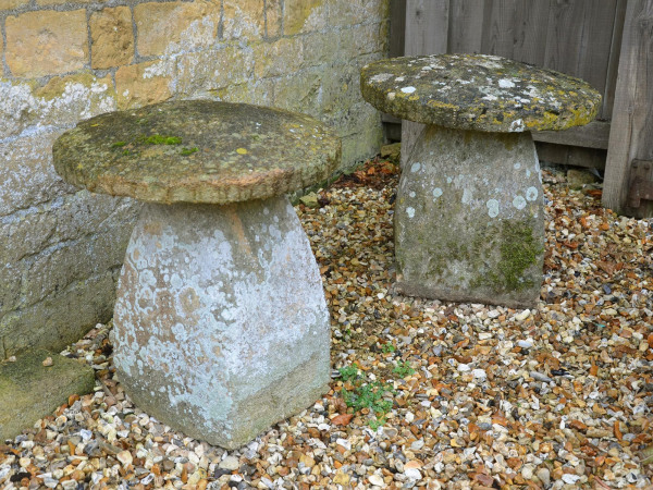 A group of three Ham stone staddle stones