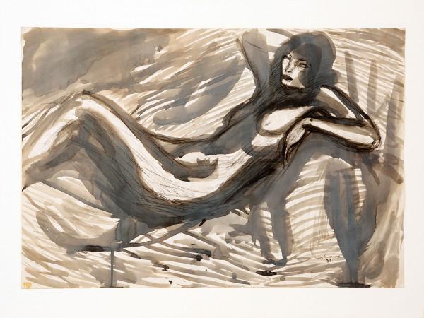 'Reclining Nude' Leon Underwood 1890 – 1975