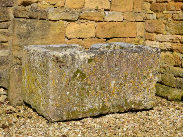 An 18th century stone trough