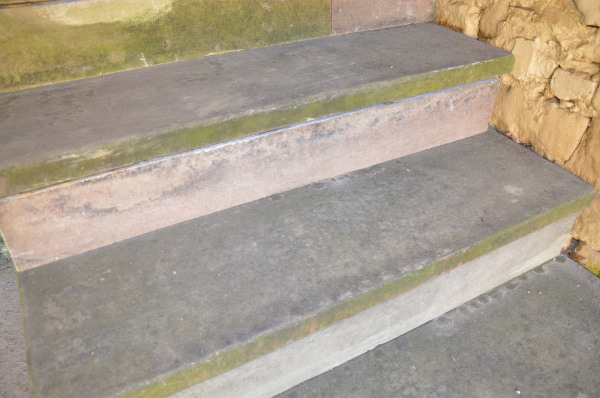 A set of York stone steps