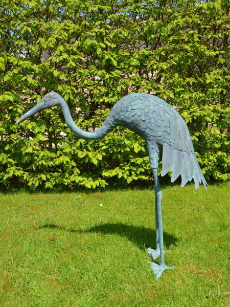 A Japanese Meiji Period (1868 – 1912) bronze crane