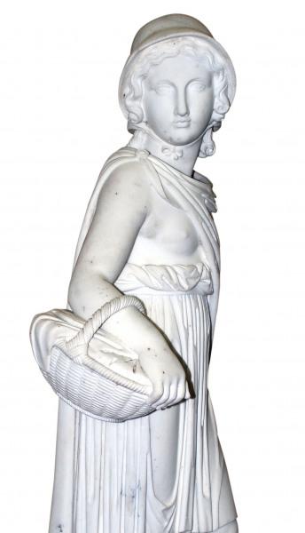 Girl with Basket by Jospeh Gott (1786-1860).