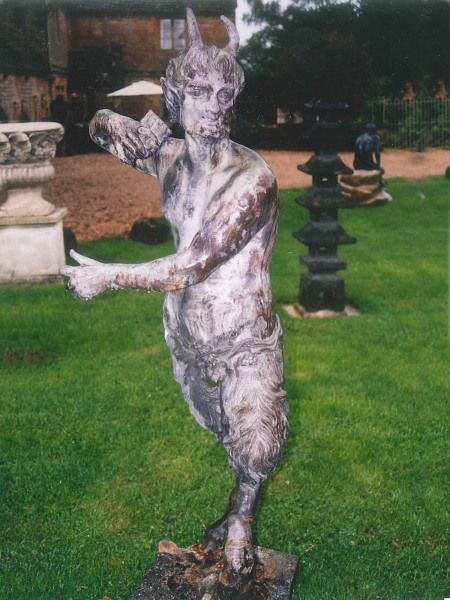 Lead figure of Pan by Van Nost the elder
