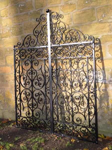 A pair of 19th century wrought iron garden gates