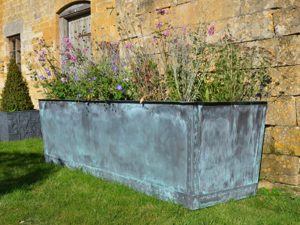 The Rectangular Copper Garden Planter - Large - Wide