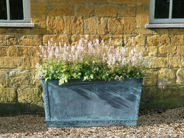 The Rectangular Copper Garden Planter - Small - Narrow