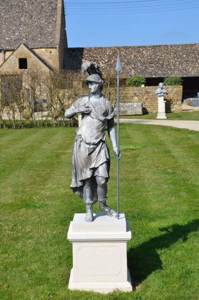 A fine lead figure of the Goddess Minerva by John Cheere (1709 -1787)