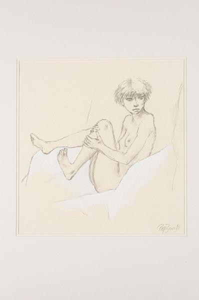 'Nude in an Armchair' Ralph Brown 1928-2013