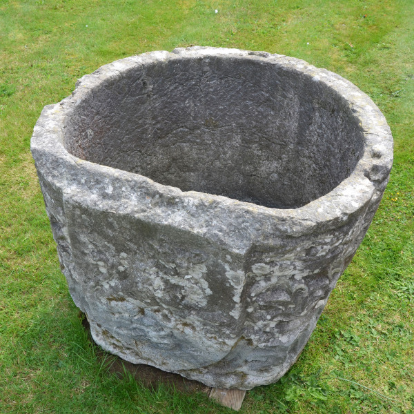A late 19th century Istrian stone planter of irregular form